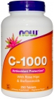 Vitamin C-1000 with Rose Hips and Bioflavonoids 250 таблеток