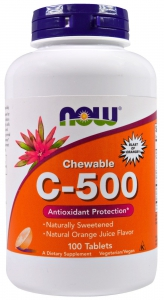 Vitamin C-500 Chewable Orange 100 таблеток