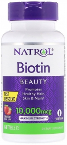 Biotin Fast Dissolve Strawberry 10000 мкг 60 таблеток